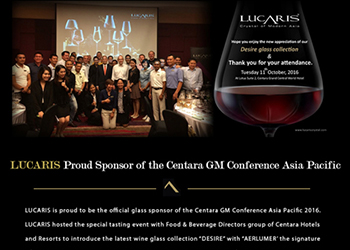 LUCARIS Proud Sponsor of the Centara GM Conference Asia Pacific