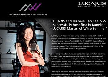 Lucaris Master of Wine Seminar by Jeannie Cho Lee MW