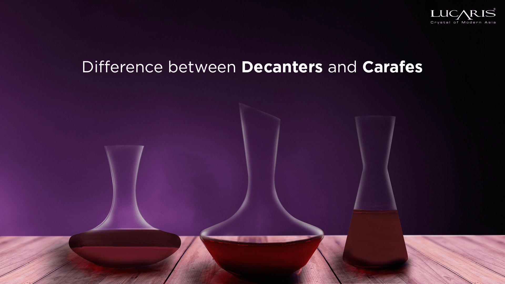 Difference between Decanters and Carafes