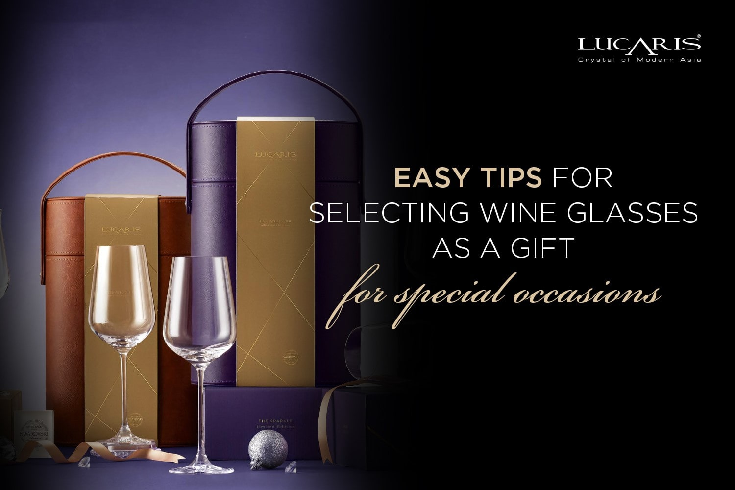 Selecting wine glasses as a gift for special occasions