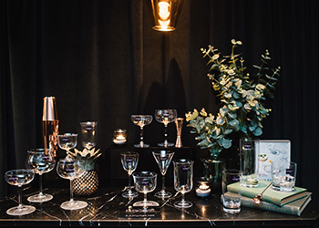 LUCARIS launches RIMS, the 14 fine crystal barware glasses for luxury cocktails experience At Vesper one of 50th best bars in Asia.